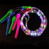 Cuerda Skipping Favor Favor Luminoso LED LED Luminal Flashing Ropas Fitness Equipos Noche Mercado Niños Juguetes para niños 2.7m DHF7120