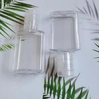 20ml Mini hand sanitizer PET plastic bottle with flip top cap square shape for Make-up lotion disinfectant liquid