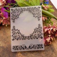 Laço videira flor borboleta plástico pastas de gravação papel cartões de papel scrapbooking artesanato diy po casamento decoração ferramentas