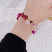 Bangle Crystal Tiger's Eye Natural Stone Bracelets Women Jewelry
