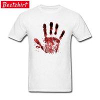 Tecido vermelho mãos estranhas horror t - shirts Procissão do dia halloweano camiseta mulheres mulheres roupas roupas inteiras de um 210420