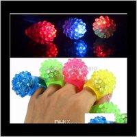 Dekoration Ereignis Festliche Lieferungen Home Garten Drop Lieferung 2021 Ankunft Flash MTS Coole LED Leuchten Blinkender Bubblenring Rave Blinking S