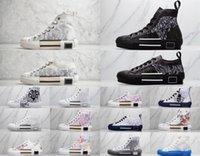 Dior shoes مصمم التقنية B22 B23 الأخضر عارضة الأحذية في 19ss المستفادة أسفل النساء تنفس النساء منصة الجلود الزهور المدربين الرياضة