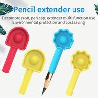 Rainbow Pop Push Bubble Fidget Pen Case Educational Toys Decompression Finger Toys Unzip Bubble Pen Cap Cover Pencil Extender for Kids Student Gifts G625X2Y