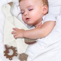 Touchles de peluche rellenos suaves para nacidos 0 12 meses Toallas infantiles para bebés Dormir juguete para niños pequeños Peluche Treast TEETHER MÓVIL GOSTROS