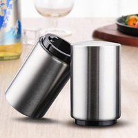 Stainless Steel Bottle Opener Push Down Automatic Beer Opener Customized Laser Logo Supported Kitchen Tool JJA239