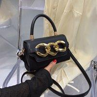 Handbag Texture thick chain bag women's 2021 summer fashion small square Single Shoulder Messenger Bag