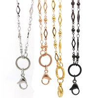 """Wholesale 32"""" Rhomboid Chain 316L Stainless Steel Pendant Necklace For Floating Locket Chains"""