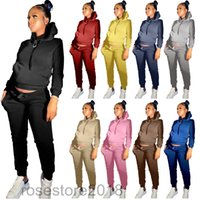 Women Thick sportswear Fleece outfits Sweater+Leggings Jogging suits long sleeve hooded tracksuits plus size 2 piece Sets Fall winter clothing