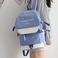Japanese Blue Large-capacity Backpack Women 2021 Fashion School Backpacks For Teens Female Waterproof Bags Panelled