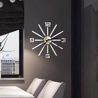 Clock Watch Wall Clocks 3d Diy Acrylic Mirror Stickers Home Decoration Living Room Quartz Needle Mute