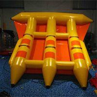 4x3 متر 6 مقاعد مزيد من خيار الألوان المياه متعة نفخ تحلق الأسماك تصفح مانتا راي السطو flyfish 3 أنابيب قارب الموز