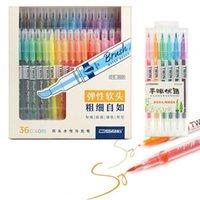 Dainayw 6/12/26 / 36 COLOR CALLIGRAPY PEN ARTE ART Cepillo Marcador Pluma FinEliner Water Color Pen para dibujar Pintura Escuela Art Supplies