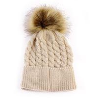 Caps & Hats Baby Toddler Girls Boys Warm Winter Fur Pom Hat Knit Beanie Crochet Ski Ball Cap