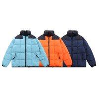 품질 Parkas 디자이너 남성용 다운 자켓 얼굴 북쪽 여성 복고풍 두꺼운 스탠드 칼라 하이 스트리트 패션 남성 커플 컬러 블록 코트 맨 겉옷