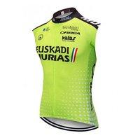 Pro Team Euskadi Летние велосипедные трикотажные изделия Мужская рубашка без рукавов Горный велосипед жилет Maillot ROPA Ciclismo MTB велосипедные вершины гоночные одежды Y21032908