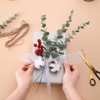 Decorative Flowers & Wreaths 5 Heads Natural Eucalyptus Leaves Dried Flower Decor DIY Home Wedding Party Supplies Artificial Plant Ornament