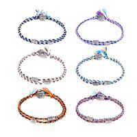Charm Bracelets Tibetan Buddha Head Bracelet For Women Men Handmade Braided Woven Rope Chain Lucky Tribal Amulet Adjustable