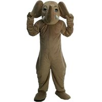 Prestation Elephant Mascot Kostymer Halloween Fancy Party Dress Cartoon Character Carnival Xmas Påsk Reklam Födelsedagsfest Kostym Outfit