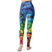 Kadın Tayt Seashy Renkli Kelebekler Baskı Yoga Kızlar Yüksek Bel Egzersiz Legging Pantolon Karın Kontrol Pantolon