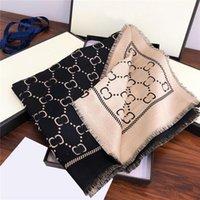 Trendy List Jacquard Długi Szalik Dwuosobowy Side Color Scarves Designer Kobiety CashMere Wrap Duży rozmiar 180 * 70 cm