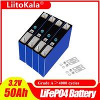 LiitoKala 3.2V 50Ah Battery LiFePO4 cell Pack 150A 3C High Drain for DIY 12V 24V Electric Bike Solar Inverter Golf Cart