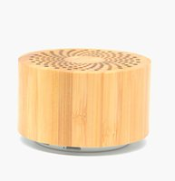 Regalo portátil de madera promocional navideño de madera inalámbrico al aire libre mini bluetooths inalámbrico altavoz de bambú