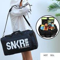 Large Multiple Compartment Sport Training Gym Bags Men Sneaker Gym Bag Shoes Packing Cube Organizer Waterproof Shoulder Bag SNKR