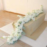 장식 꽃 화환 1m 길이 결혼식 장식 모림 인공 스트립 테이블 러너 꽃 연회 센터 피스 배열