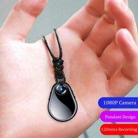 Voice Recorder Espia Digtal Dictaphone Mini-Kamera Klein 1080p Micro Cam Secret Tretable Video Body Sport Clip Halskette256GB Digital