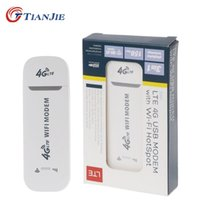 Tianjie 3G 4G GSM UMTS LTE USB WifiモデムドングルカールーターネットワークアダプターSIMカードスロット210607