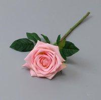 Multicolor hidratante flor rosa única haste de boa qualidade flores artificiais para decorações de casamento EEB6096