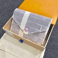 عملة محفظة امرأة قصيرة محفظة جلدية ماركة متعدد الألوان القابض المحافظ النساء حامل البطاقة عالية الجودة محافظ فيكتورين N64022