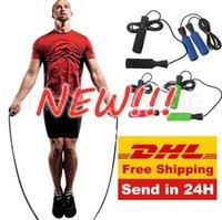 米国在庫、カラフルなエアロビックエクササイズボクシングスキップジャンプロープ調整可能ベアリングスピードフィットネスブラックユニセックス女性男性Jumprope FY6235 MS24