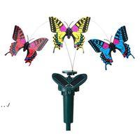 Garden Decorations Solar Power Dancing rotating Butterflies Fluttering Vibration Hummingbird Flying Birds Yard Garden-Decoration RRF11017