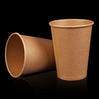 عالية الجودة المتاح كرافت ورقة كوب حليب القهوة كوب سميكة شرب الملحقات حزب اللوازم