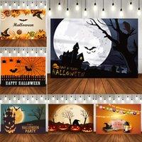 Украшение вечеринки Хэллоуин луна тыквенные леденцы на палочке фона для PO настроить привидение дом гобелен детский декор декор оптом