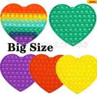 DHL Tiktok Big Size Colorato Push Push Pops Fidget Bubble Sensory Squishy Stress Stress Reliever Autismo Ha bisogno Anti-stress Pop-It Rainbow Toys Ca16