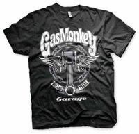 Gas Monkey Garage Big Piston Angel Fast N 'B بصوت عال مرخص أسود تي شيرت [Wrchep6 @ 163.