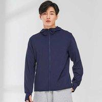 Men's Hoodies & Sweatshirts Sunscreen 2021 Long Sleeve Korean Slim Fit Solid Color Thin Jacket Outdoor