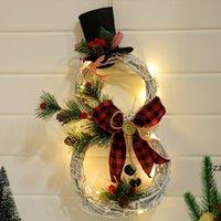 Светодиодный свет рождественские гирлянды орнамент ротанга Hoop Home Party украшение рождественских деревьев кулон новый год декоративный HWF9789