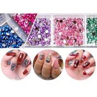 Kits de arte de uñas 1 Establecer caja de almacenamiento + Punto de Rhinestone Doting Pegation Pen + Pegatina Pegada Diamond Mud + Pinzas Picker Manicure Tool