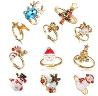 الأزرق Zhihai الاتجاه مجوهرات عيد الكرتون حلقة الحيوان هدية عيد الميلاد الدائري