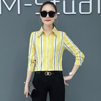 Korean Fashion Chiffon Women Blouses Office Lady Shirt And Blouse Autumn Vintage Long Sleeve Shirts Plus Size Womens Tops Women's &