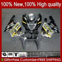 Bodys Kit voor Kawasaki Ninja ZX-7R ZX750 ZX 7R 96 97 98 99 00 01 02 03 Carrosserie 28HC.37 ZX-750 ZX 7 R ZX 750 ZX7R 1996 1997 1998 1999 2000 2001 2002 2003 Valerijen Geel zilverachtig