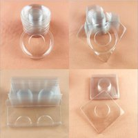 Wimpernkiste Bottom Make-up-Tablett Verpackungsspeicherungspaar von transparentem Leichtgewicht, kompakt und praktisch