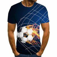 T-shirt Erkek Rahat T-shirt Streetwear T-shirt İtfaiye Baskı Baskı Kısa kollu Erkekler XXS-6XL 2021. Alev ve Futbol