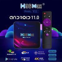 H96 MAX V11 Android 11.0 TV Box 4GB 32GB Rockchip RK3318 4K 2.4G 5G WIFI BT4.0 Media Player
