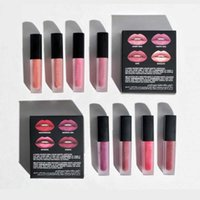 Lip Gloss Set Set Bocca Red Lipgloss Set 4 Pezzi Rossetti Le labbra opache Gligh per le donne