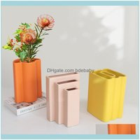 Vases Décor Home & Gardennordic Geometric Art Ceramic Decoration Model Living Room Dining Designer Dry Flower Arrangement Decor Vase Drop De